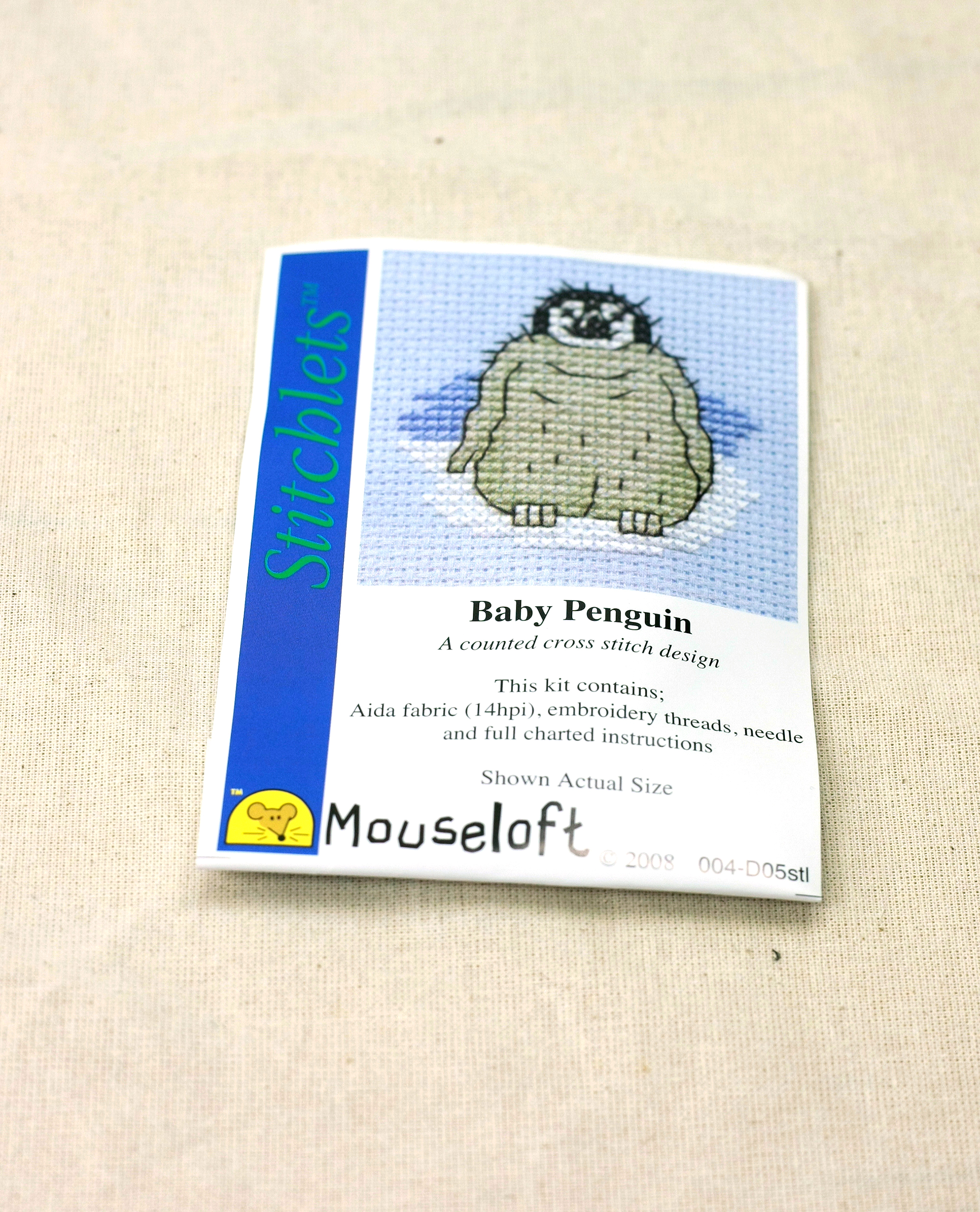 Baby Penguin Stitchlets X Stitch Kit by Mouseloft