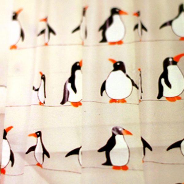 Description. Peva Penguin Shower Curtain ...